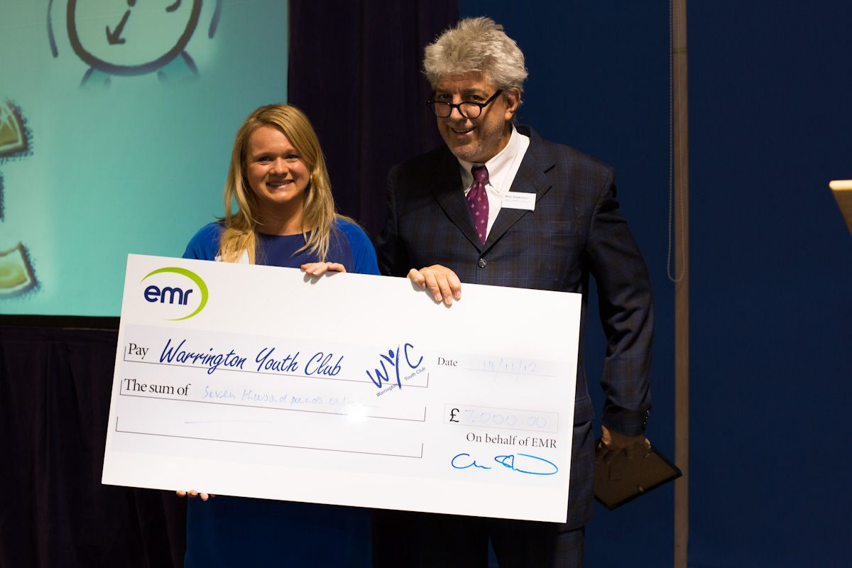 HR Manager Angela Jones hands over first fundraisi