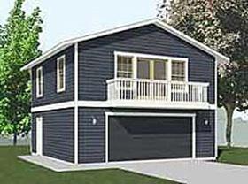 Behm Design Garage Apartment Plan 1307-1bapt