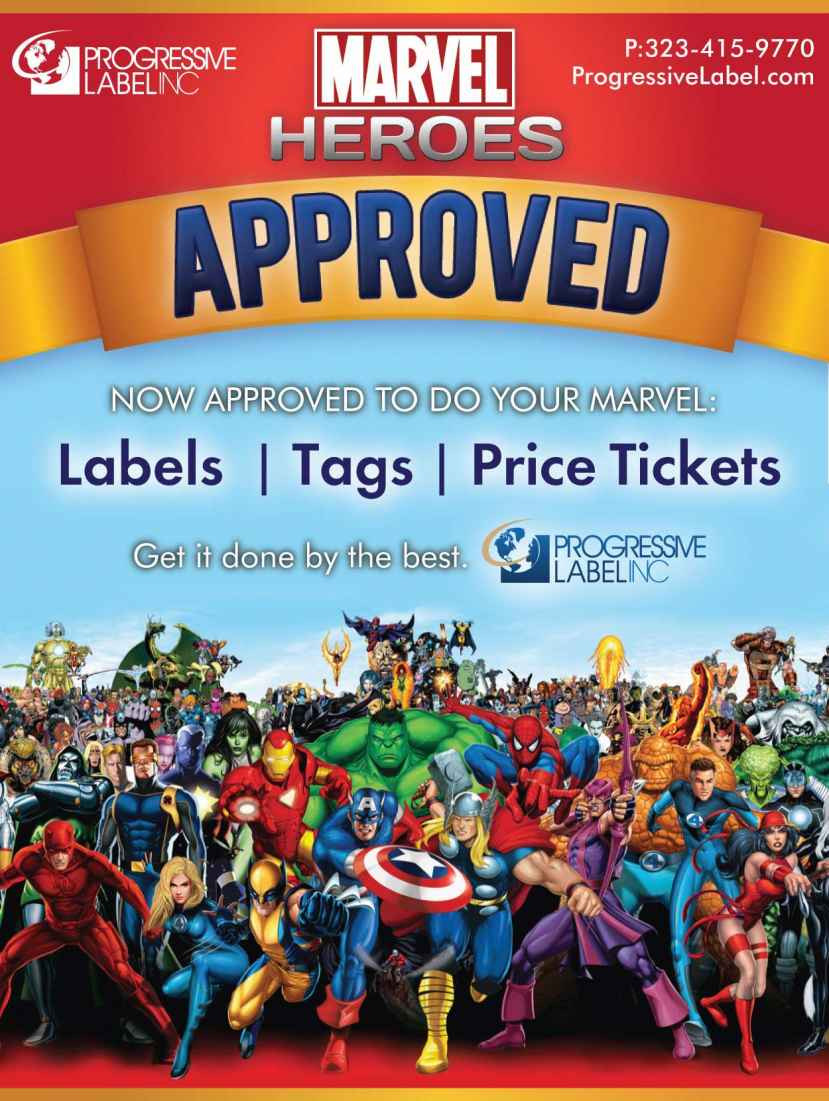 Progressive Label approved for Marvel licensees