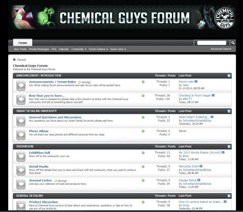 www.ChemcialGuysForum.com