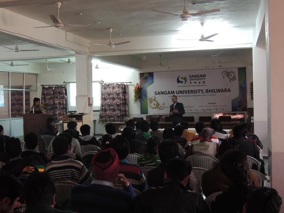 Prof Ramesh Bansal University of Pretoria Talks at Sangam University Bhilwara