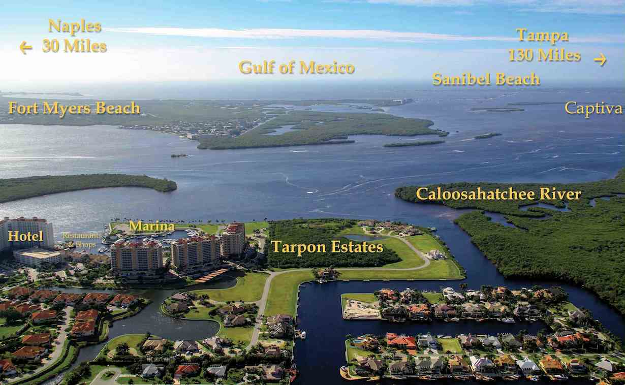 Aerial of Tarpon Estates, Photo Credit: Advanced Photography Specialists