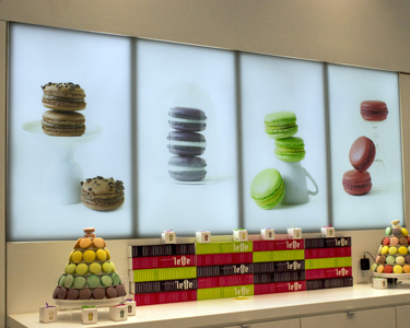 DSA Light Panels at 'Lette Macarons cookie shop, Fashion Island, Newport Beach