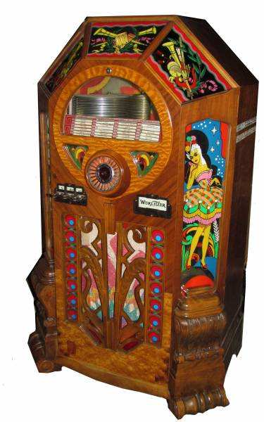 This 1942 Wurlitzer Model 42 jukebox in fine working order will be auctioned.