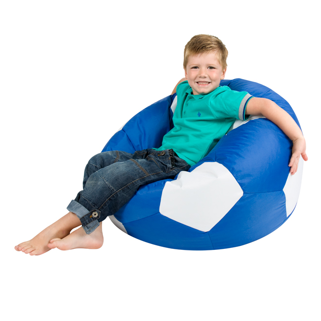Kids Football Bean Bag Blue