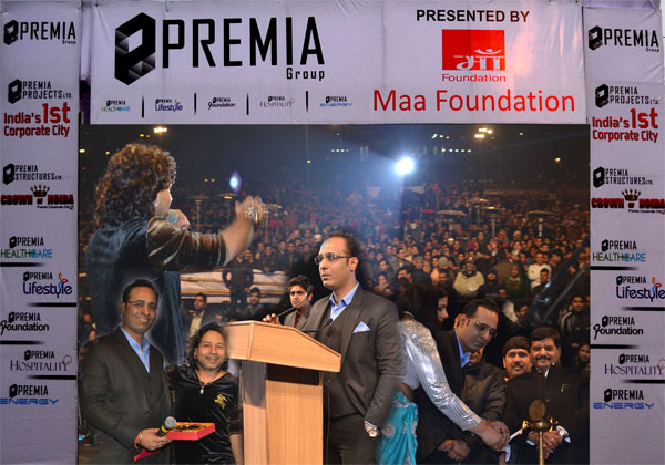 Premia Group Organised a Live Concert of Kailash Kher For a Cause