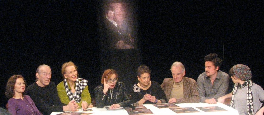 Sissy and the cast of The Portrait