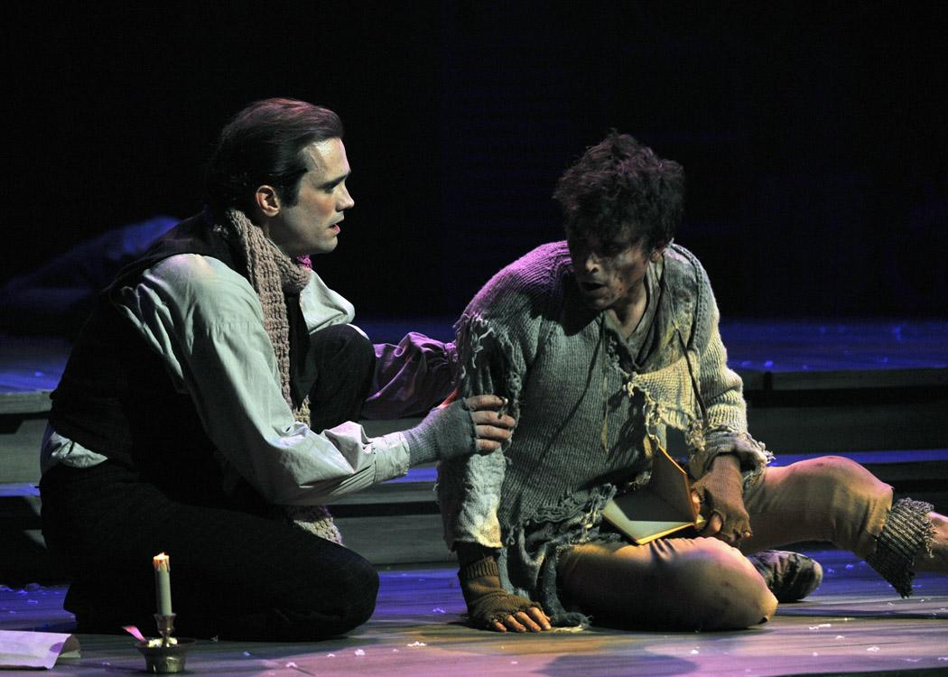 John P. Keller and Stephen James Anthony in 'Nickleby' (photo by Tony Firriolo)