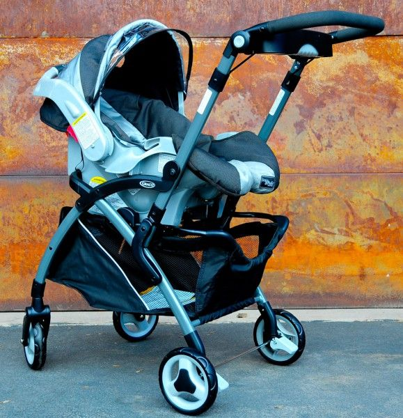 Frame strollers are convenient in the first year while using an infant car seat.