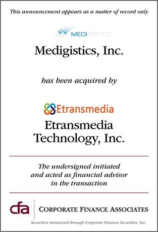 Medigistics, Inc. acquired by Etransmedia Technology, Inc.