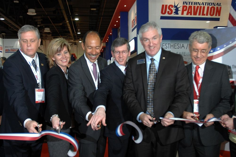 US Pavilion Ribbon Cutting at  Arab Health 2013