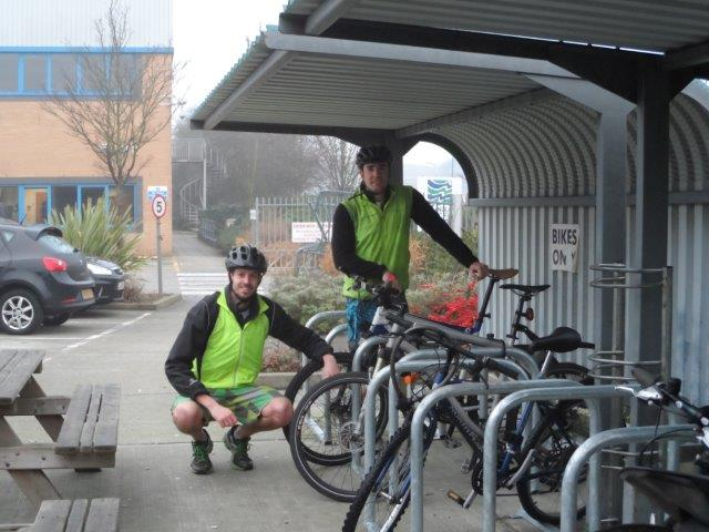 Cyclists Blake Seath and Brooke La Pine Anglo Paci