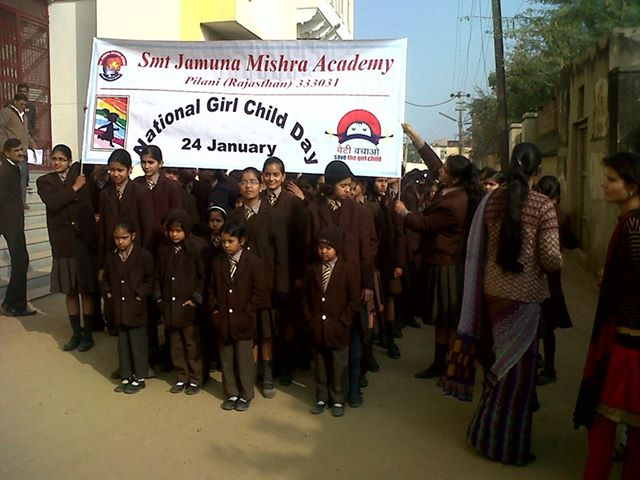 JMA Celebrates National Girl Child Day with a Rally in Pilani Rajasthan
