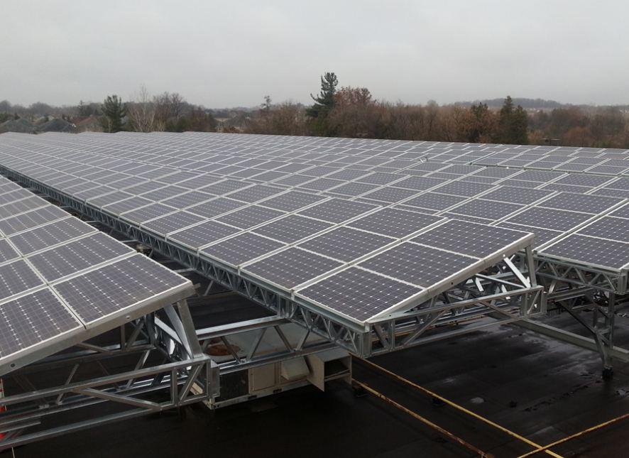 Commercial Solar Installation 2013