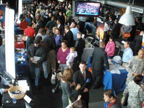 Activity at a RecruitMilitary Veteran Opportunity Expo