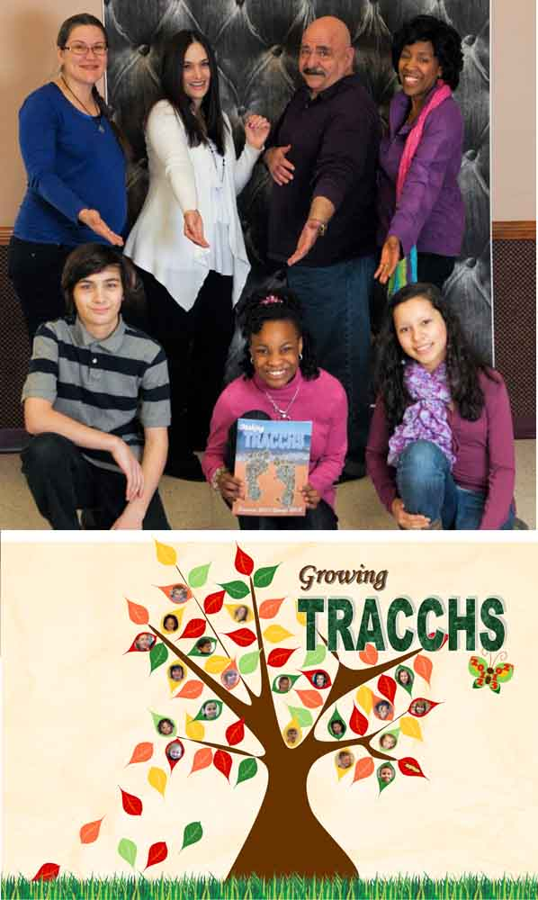 2012-2013 TRACCHS Yearbook Staff (Pictured holding 2011-2012 Yearbook)