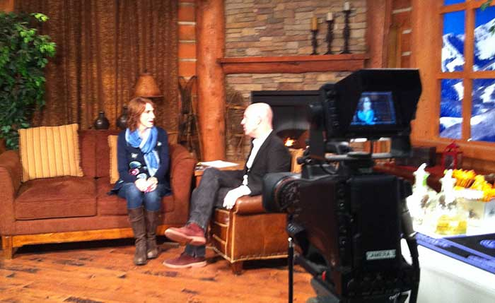 Actress Mimi Sagadin on talk show Park City TV's Mountain Views during Sundance