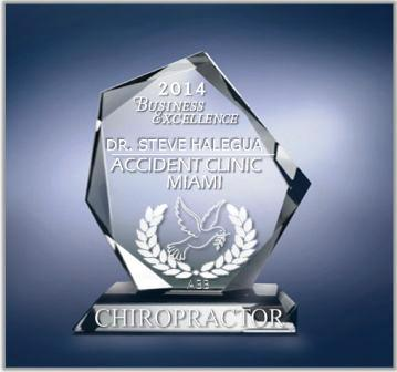 DR STEVE HALEGUA MIAMI CHIROPRACTOR OF THE YEAR AC