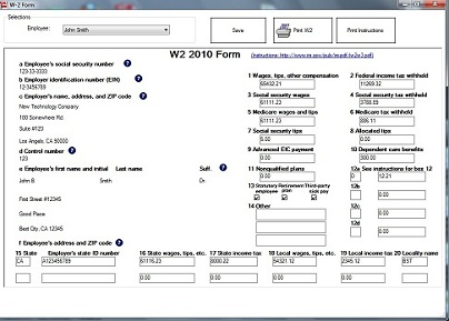 Print W2 forms with ezW2 software