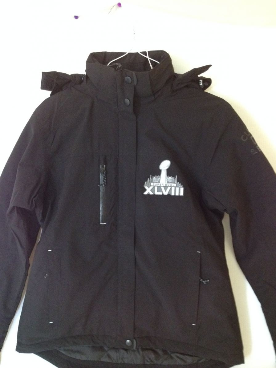Windswept created custom apparel like this jacket for the 2014 Super Bowl