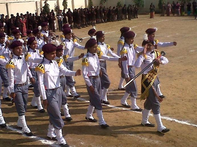 JMA Pilani School Band Display at 65th Republic Day Celebrations