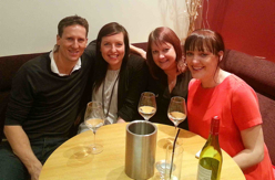 Brendan Cole with Raval customers.