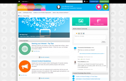 Claromentis Intranet Community Portal