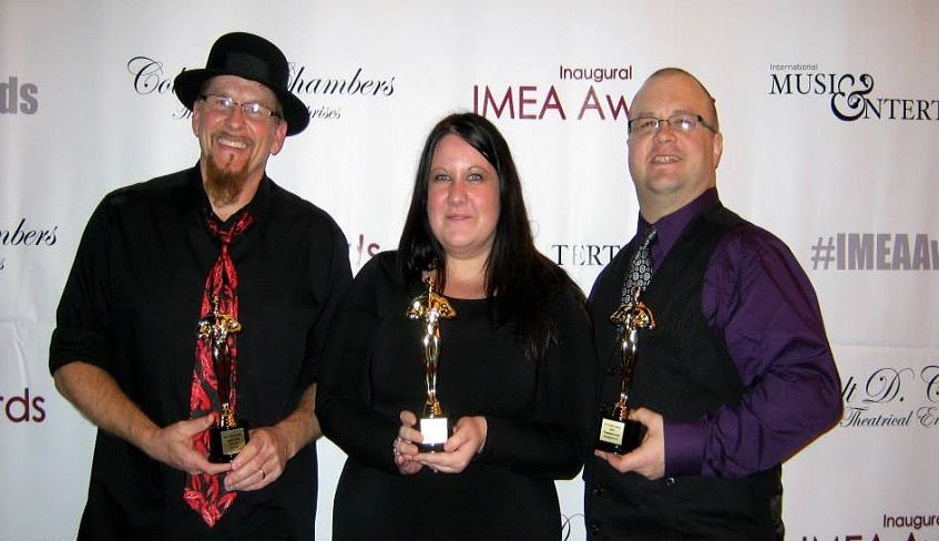 Jiggley Jones, Amy Rose and Michael Stover from MTS at the 2013 IMEA Awards
