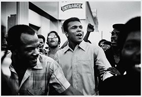Muhammad Ali walks the streets of NYC with the Black Panther Party, Sept  1970