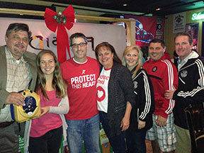 Winning team (l  to r): Dan Nysch, Katie Asper, Darren Sudman, Karen As