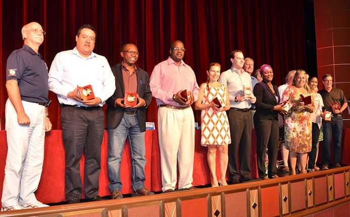 New FCCA Platinum Members being recognized during the cruise summit