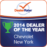 East Hills Chevrolet is the DealerRater 2014 NY Chevrolet Dealer of the Year