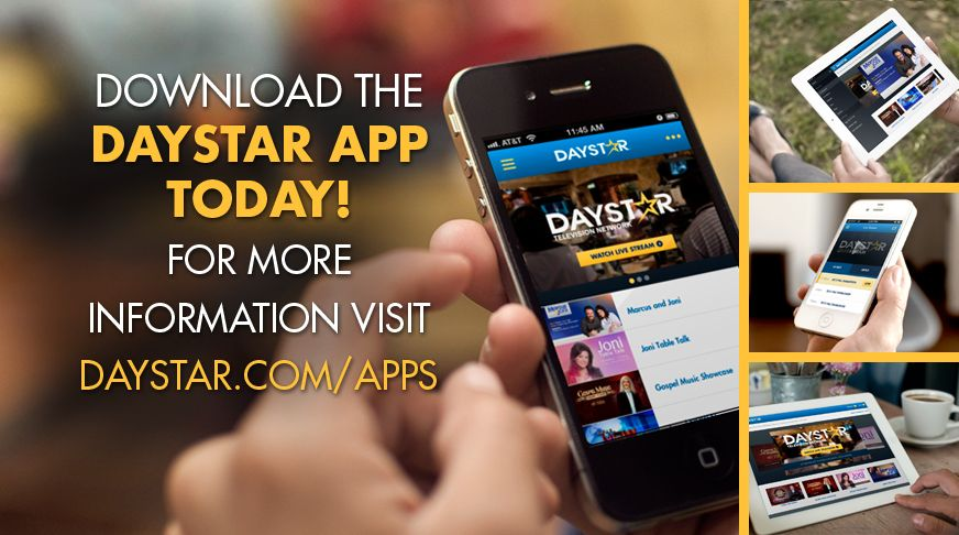 Daystar Now On Apple, Android and Kindle Fire HD Devices