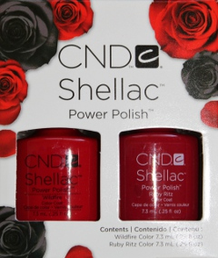 CND Shellac Perfect Pair of Ruby Ritz and Wildfire
