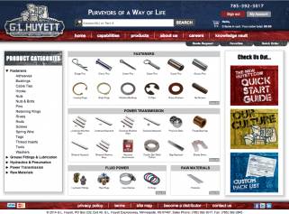 G.L. Huyett e-commerce website