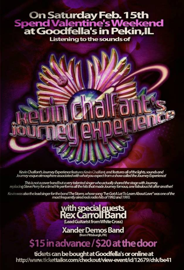 Xander Demos Band will open for Kevin Chalfant's Journey Experience