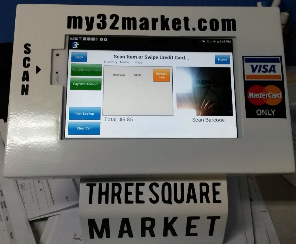 The New Three Square Market Tablet Kiosk