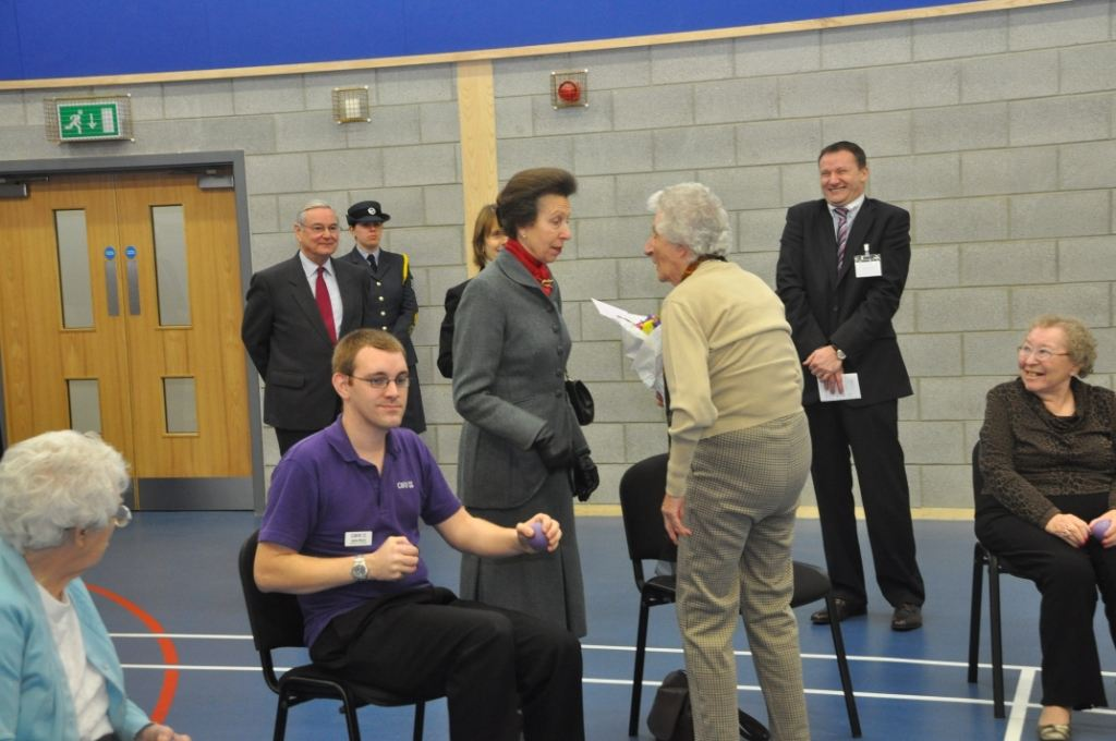 Residents meet Princess Anne.