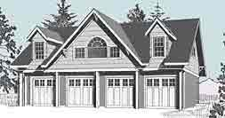 Garage plans with lofts available at behm design behm for 4 car garage plans with living quarters