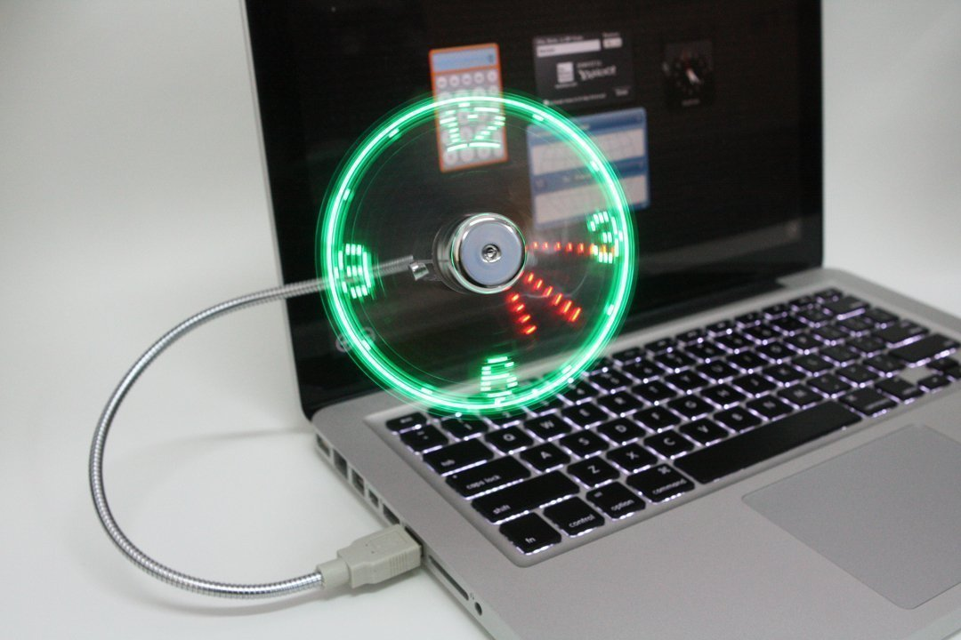 desk fan clock gadget | led clock fan -- lovegizmo.co.uk | prlog