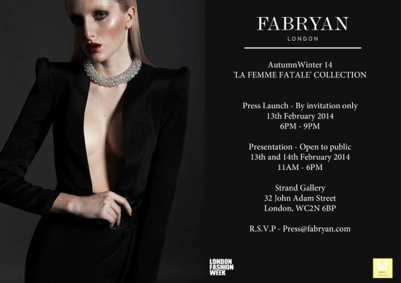 FABRYAN AW14 Invitation