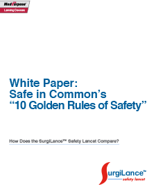 SurgiLance™ sharps safety white paper