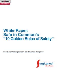SurgiLance™ sharps safety white paper