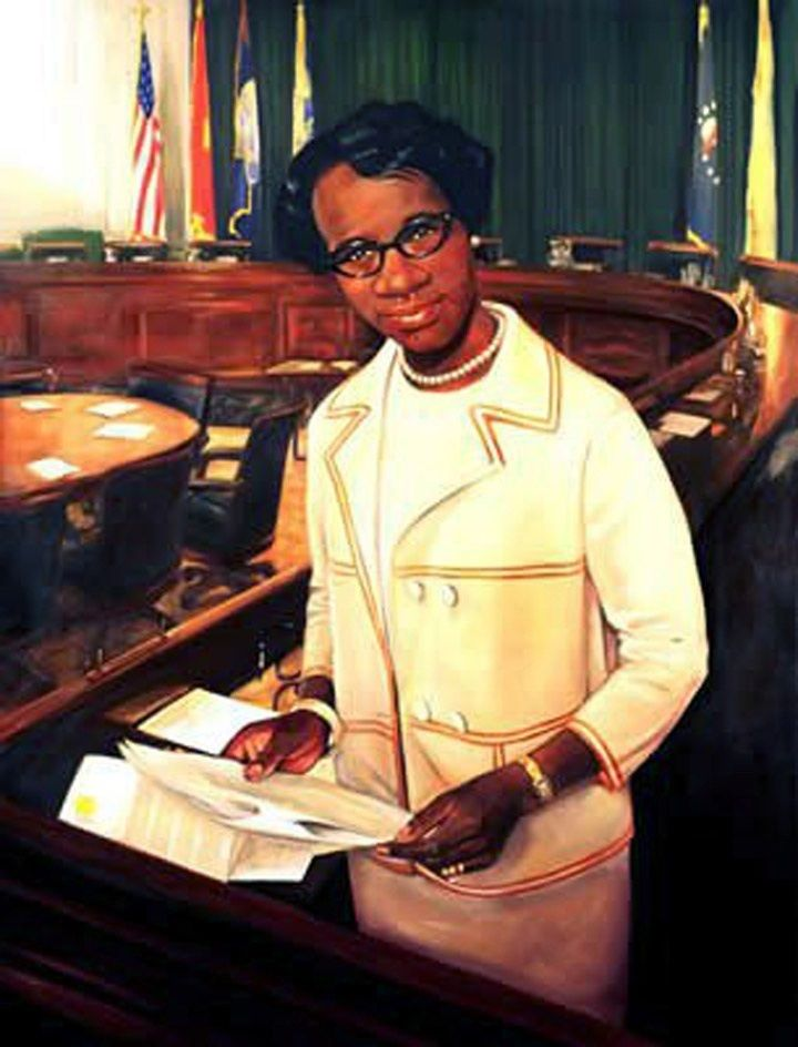 Portrait of Congresswoman Shirley Chisholm by Al Johnson