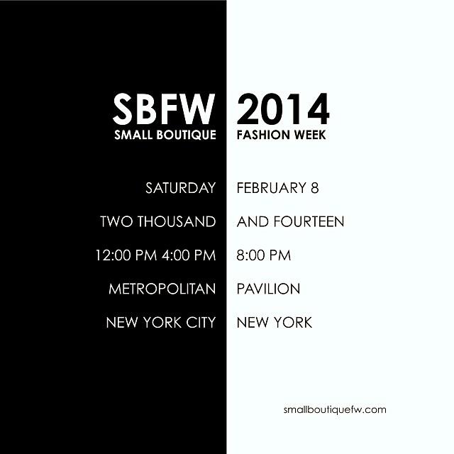SBFW 2014 FLYER