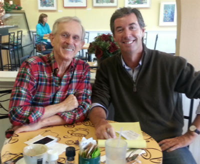 Dickie Smothers and Ray Collins, Broadcasters Club President
