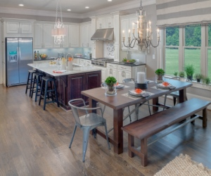 Stunning kitchen in Logan model home at The Estates at Davis Ridge.