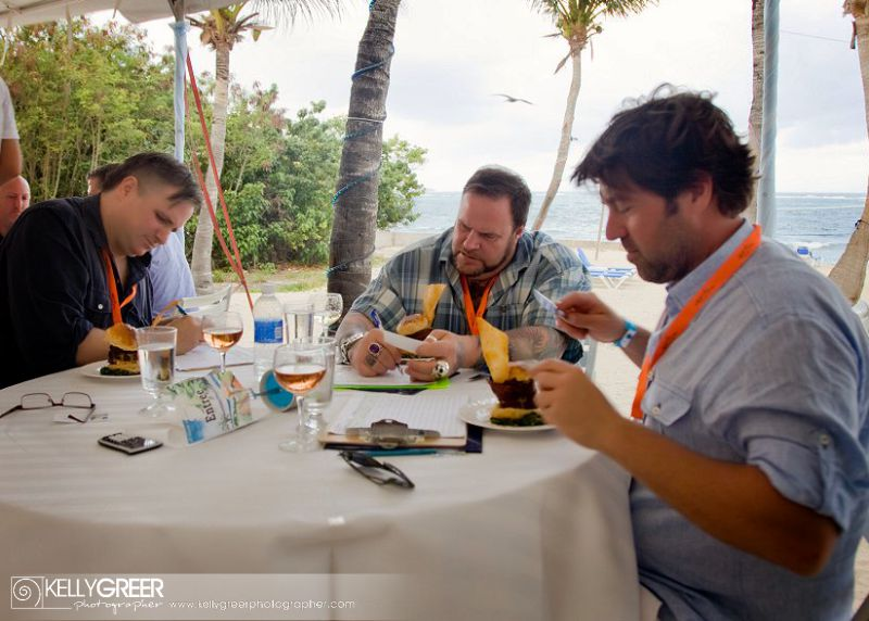 Guest chefs  judge A Taste of St. Croix and teach local high school students
