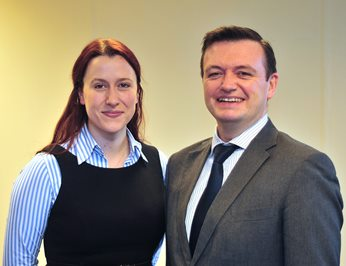 Heather Gordon and Martin Kennaugh of ICM Aviation