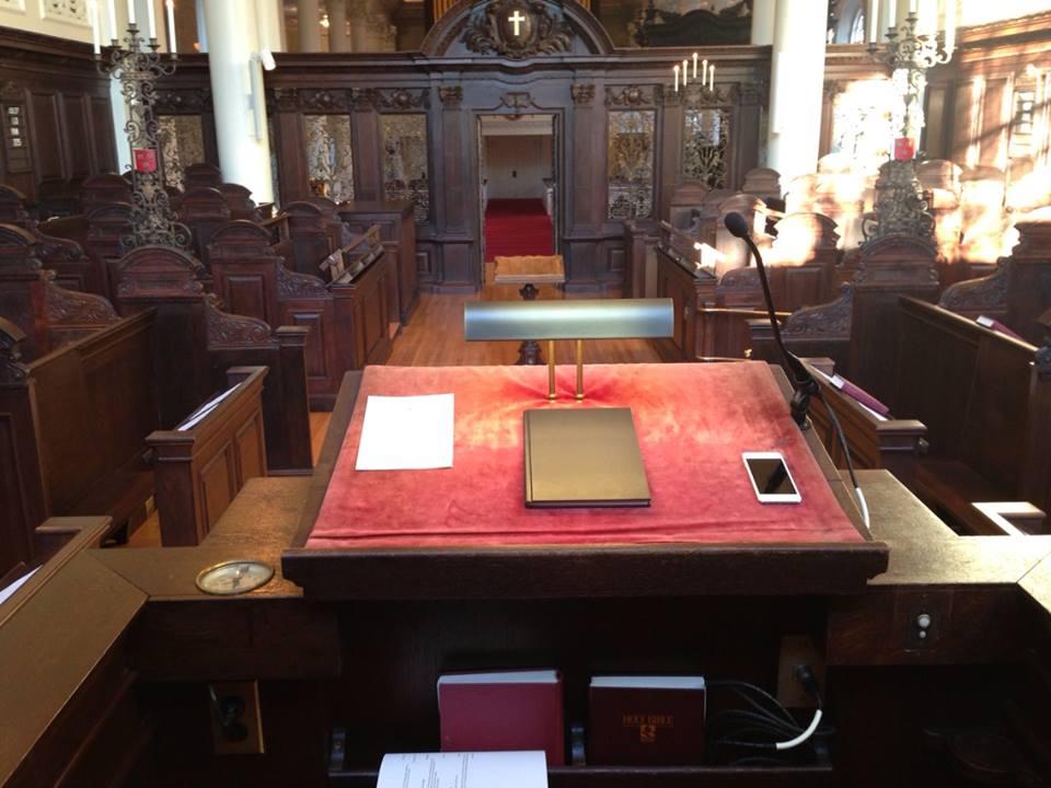 Morning Prayers at Harvard's Appleton Chapel